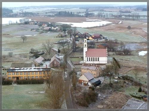 Olecko i okolice z góry